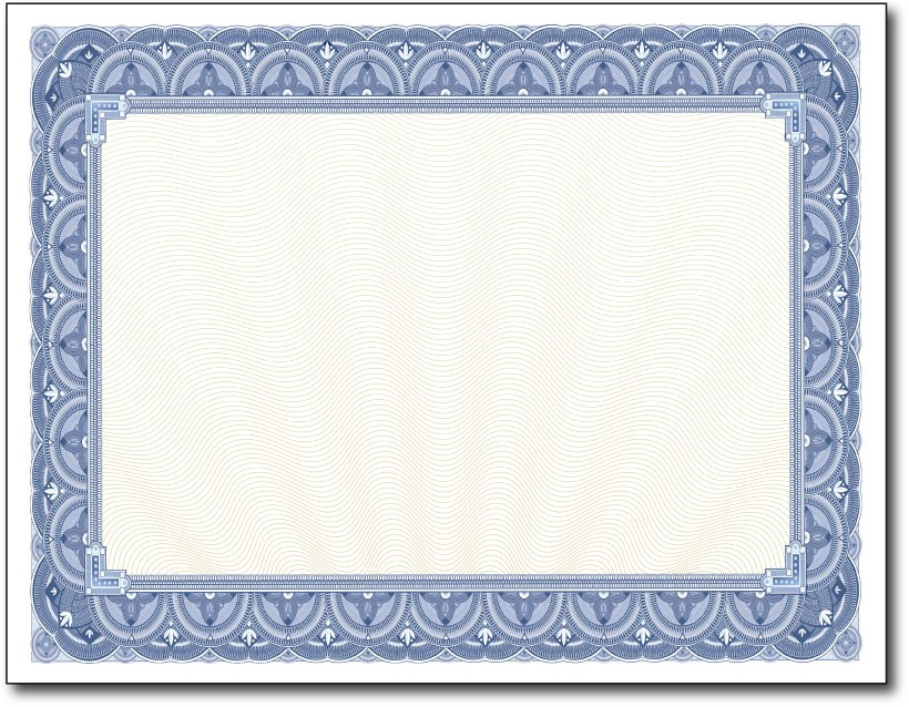 28lb Blue Border Certificates DesktopSupplies.com