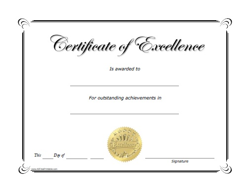 Blank Certificate Templates for Students | Star Certificate