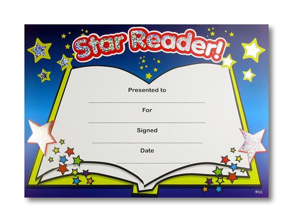 Certificate: Star Reader Sparkling