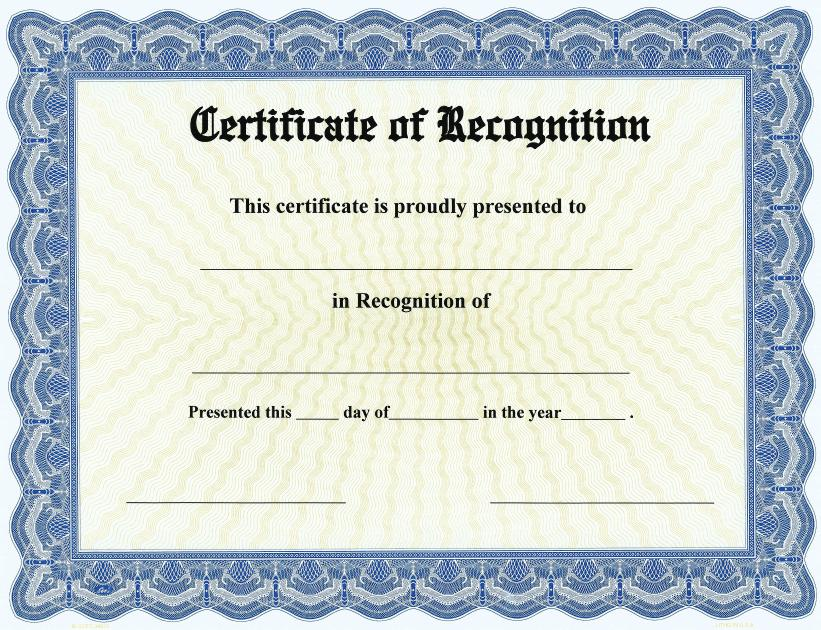 Certificate of Recognition on Goes® Bison Series Border / Qty. 25