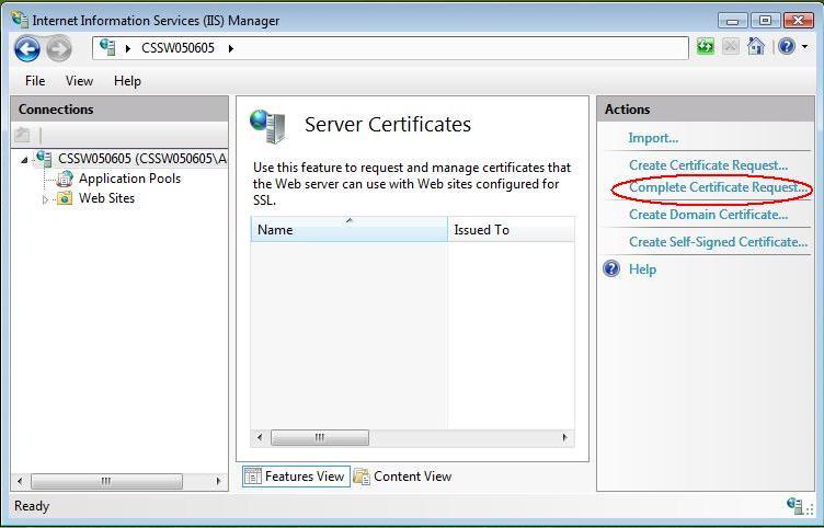 Certificate Installation: Microsoft IIS 7.x 8.x