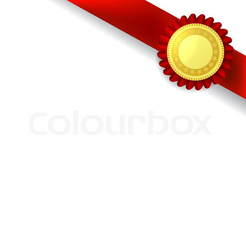 Certificate Seal with Ribbon Excellence Blue/Gold at Baudville.com