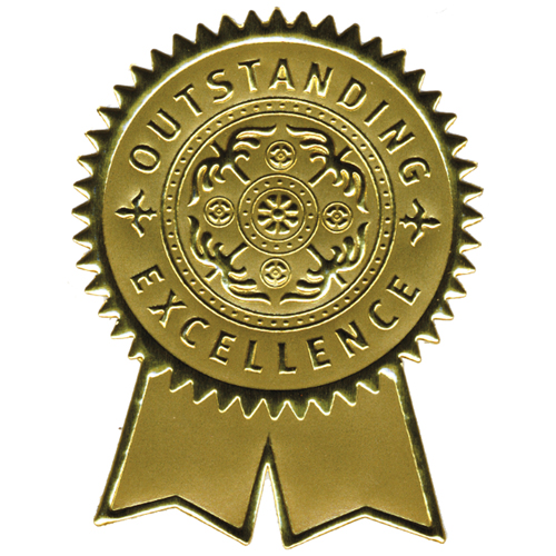Certificate Seal Template. certificate achievement template gold