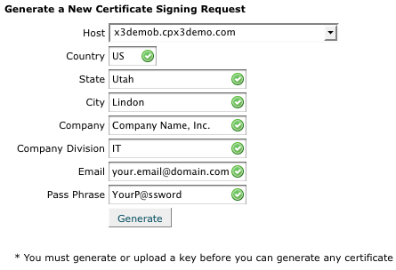 SSL Certificate CSR Creation cPanel Servers
