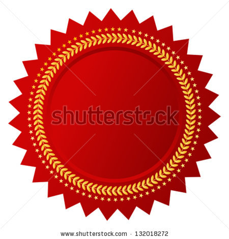 Gold Foil Certificate Seal Star   Anderson's