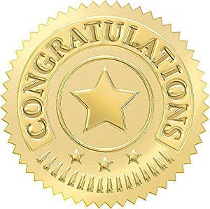 Great Papers Foil Certificate Seals 1 34 Gold Star Pack Of 48 by