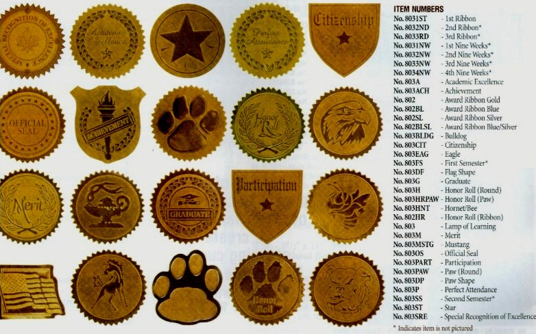 32 Gold Burst award seals certificate Stickers Sticker Stocker