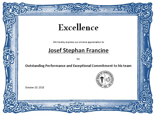 Certificate template doc certificates templates free award certificate templates word sports excellence award yelopaper Images