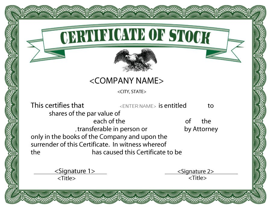 word document certificate templates formatted stock certificate