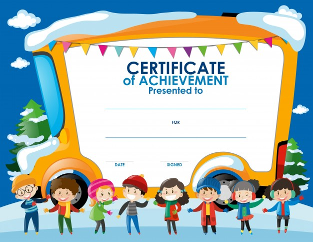 certificate templates for children certificate template with kids