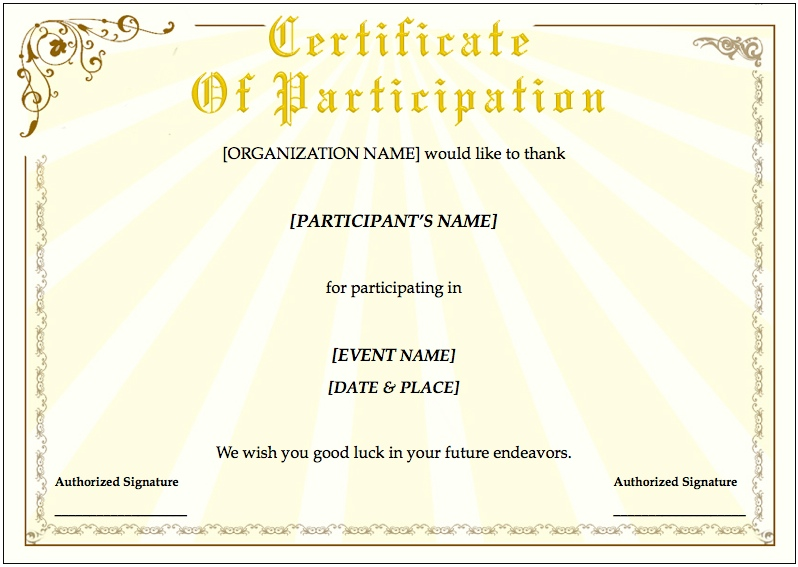 Certificate Template for Pages and PDF MacTemplates.com