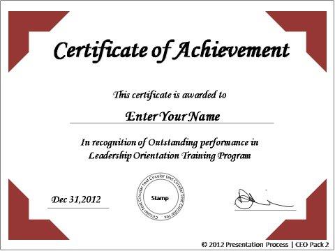 Certificate Templates Powerpoint Reboc.info