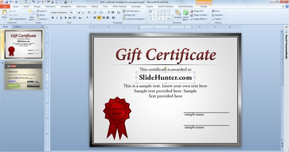 certificate template powerpoint certificate template powerpoint
