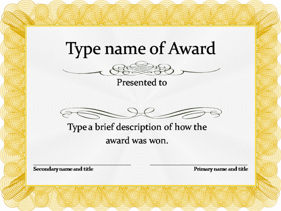 Certificate template free download certificates for Walking certificate templates
