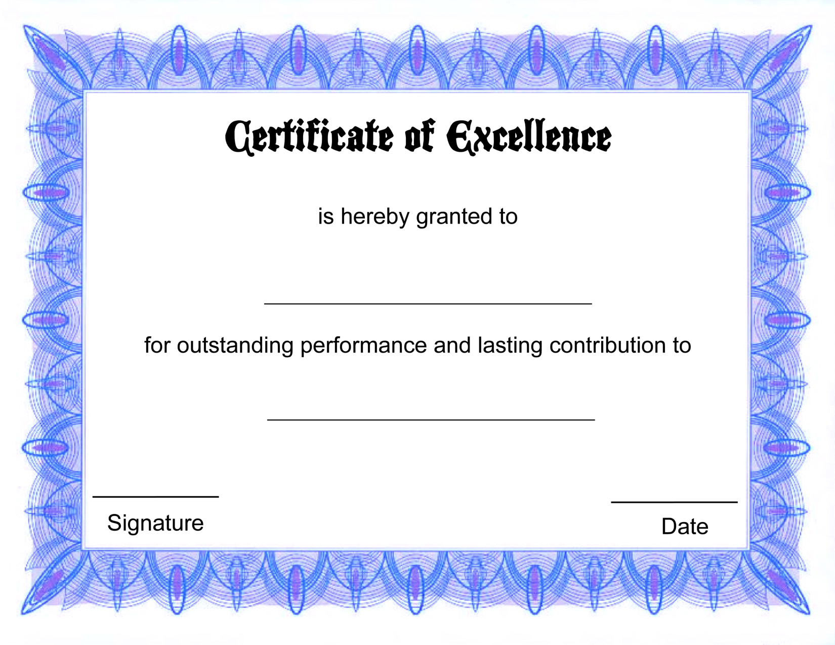 free printable certificate templates free printable certificates