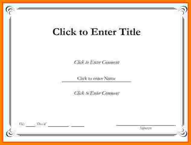 Certificate Template Free Printable