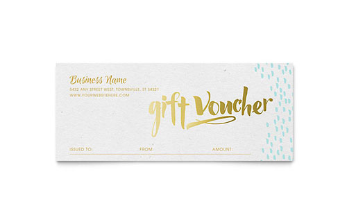 Gift Certificate Templates InDesign, Illustrator, Publisher