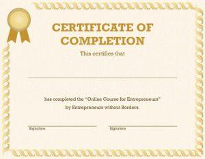 Certificate Template Online  Free Online Certificate Maker
