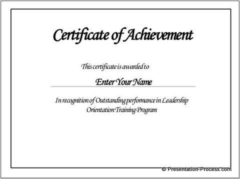 certificate templates | Green Award Certificate Powerpoint