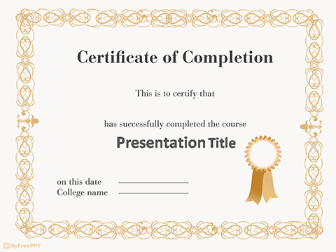 Certificate Of Appreciation Template Powerpoint Reboc.info