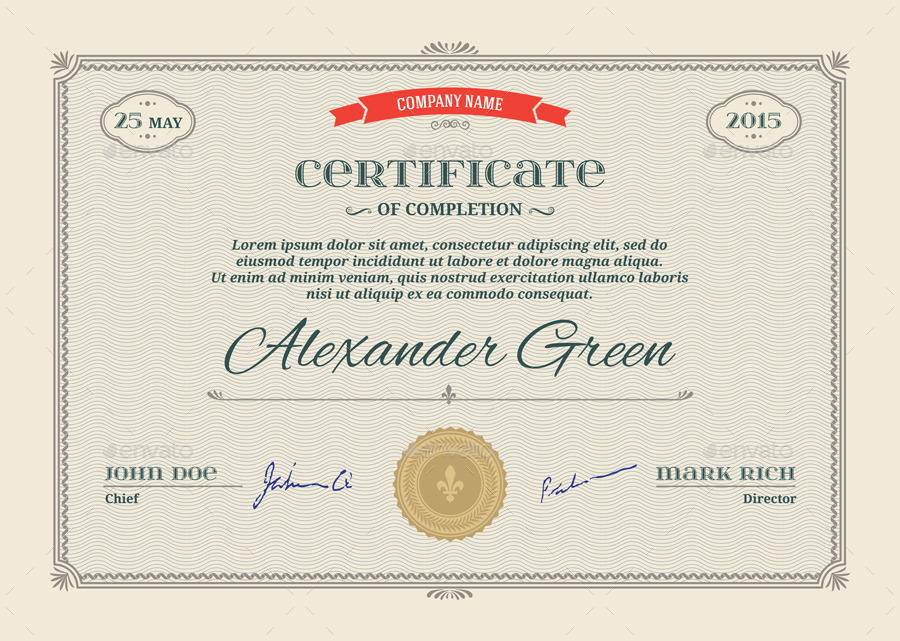 award certificate template psd certificate template psd eps print