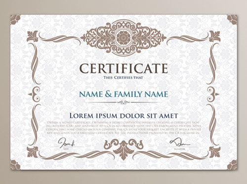certificate template photoshop 10 sets of free certificate design
