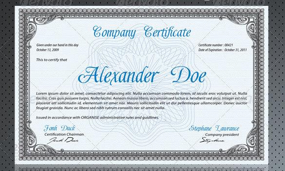 Certificate template psd certificates templates free 25 free certificate templates yelopaper Gallery