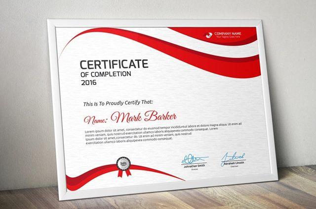 20+ Free and Premium PSD Certificate Templates Webprecis