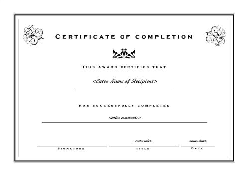 Certificates Templates & Sample – Design Excellent Certificates