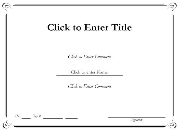 Free Certificate Templates For Word | Best and Various Templates Ideas