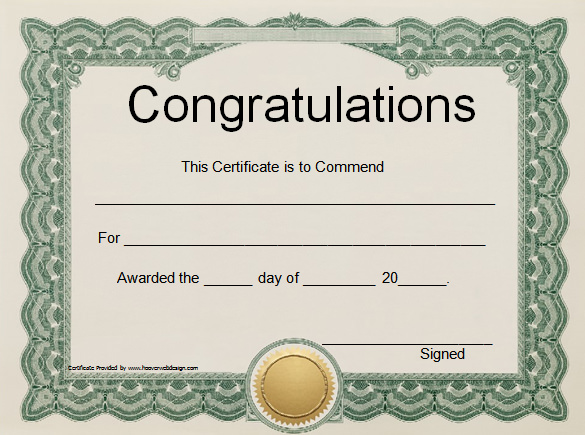 Excellent Execution Certificate Template Word Format , Finding