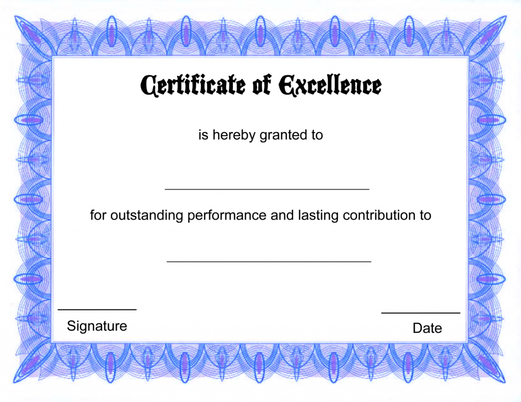 Free Online Certificate Tmplate | Certificate Templates