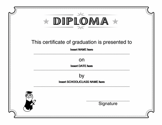 Graduate Degrees Online/Offline Diploma Certificate Template