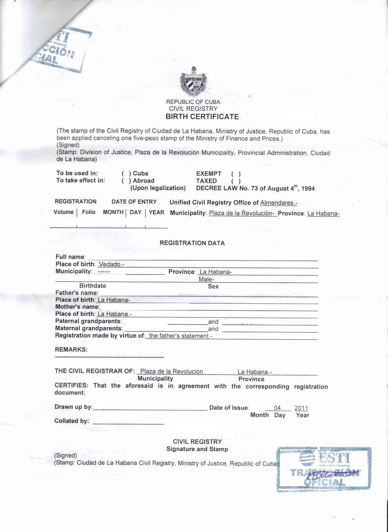 Marriage Certificate Translation – Translation of Marriage