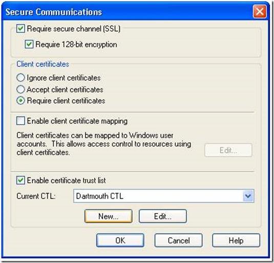 How to create custom Certificate Trust List in Windows Server 2K8