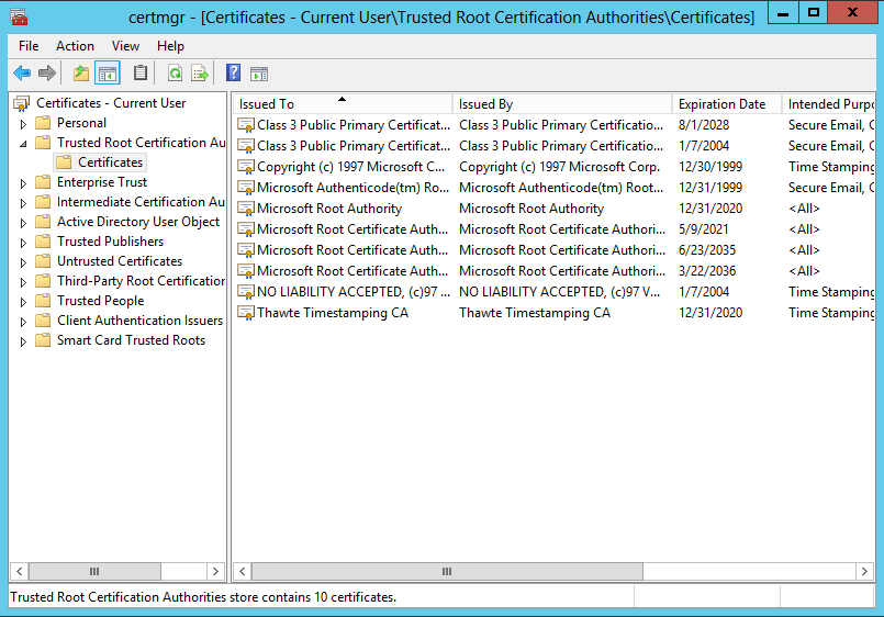 Windows XP: Certificate Status and Revocation Checking Tech