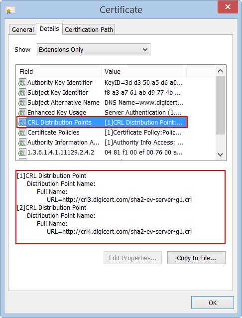 Test OCSP & CRL Access Certificate Utility | DigiCert.com
