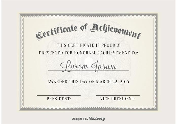 Certificate Vector Template Download Free Vector Art, Stock