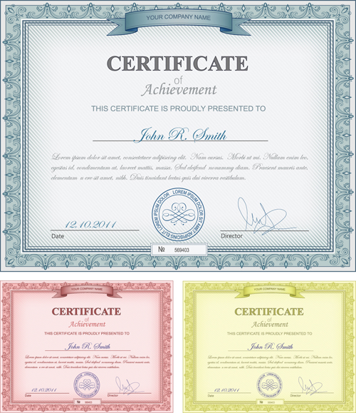 Commonly Certificate cover vector template 04 Vector Cover free