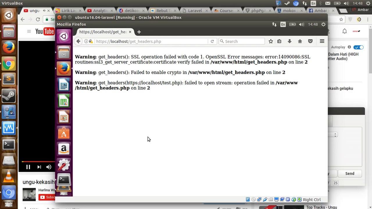 PHP error SSL operation failed .. OpenSSL error:14090086:.. get