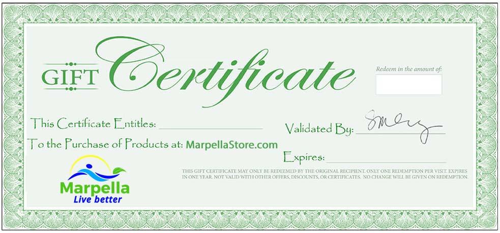 Marpella Store, Marpella Natural Wellness, Gift Certificate
