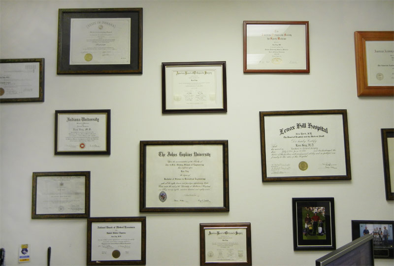 Certificate Wall Puyer Biopharma Ltd.