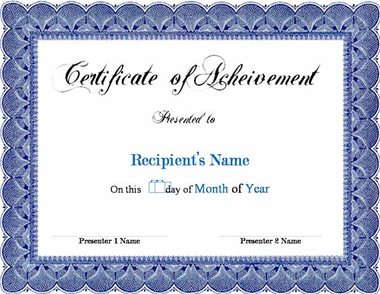 free certificate templates word documents