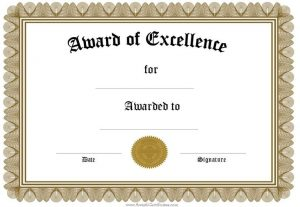 Certificate Word Template  Award Templates Free Word