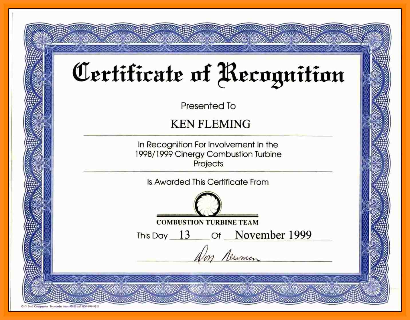 Certificate wording certificates templates free for Certificate of commendation template