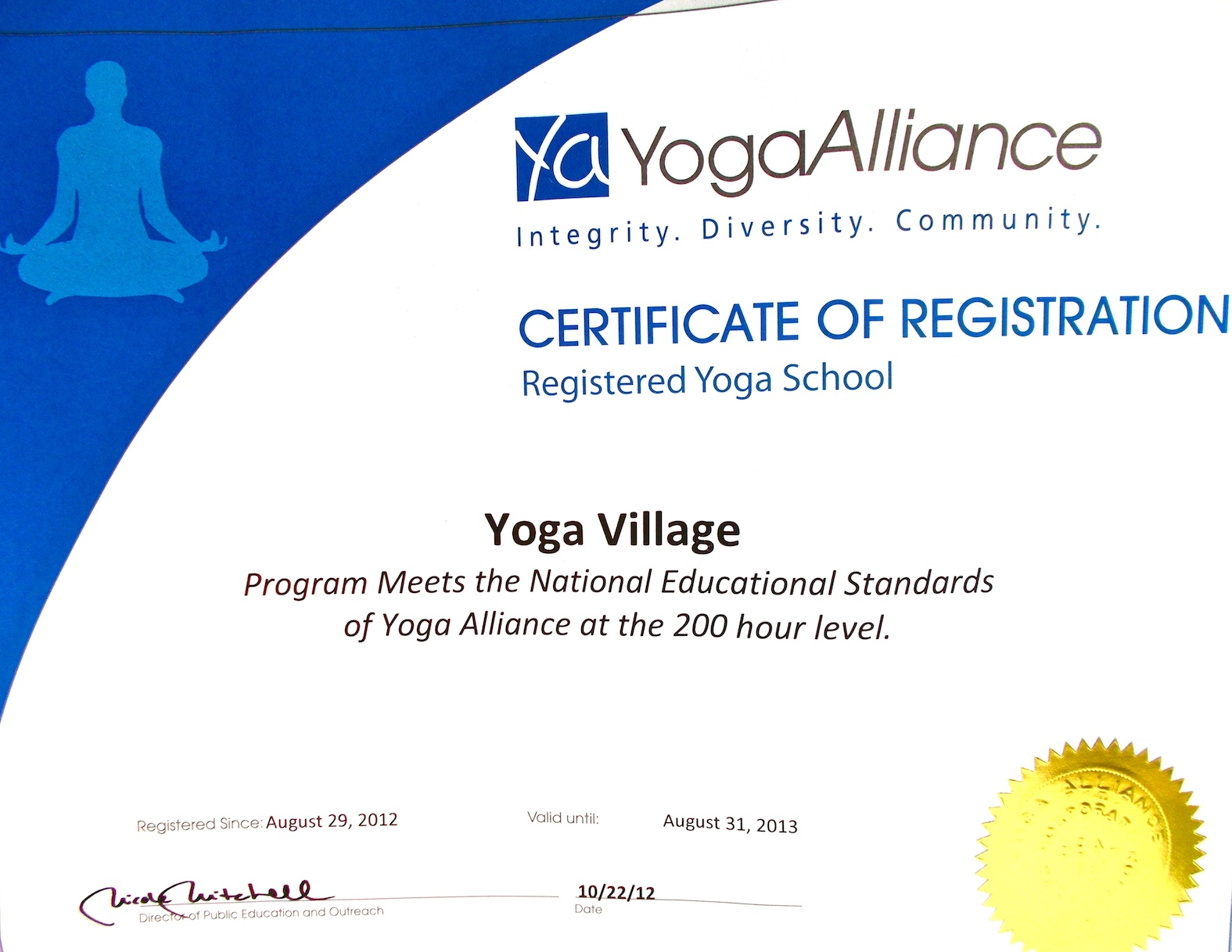 Best yoga TTC by yoga village in yoga india