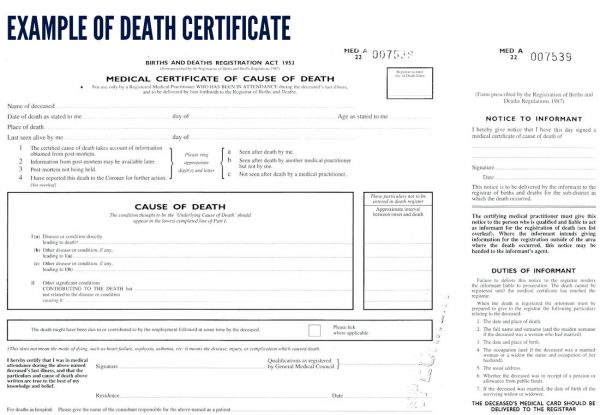 uk death certificate template certification of death uk osce guide