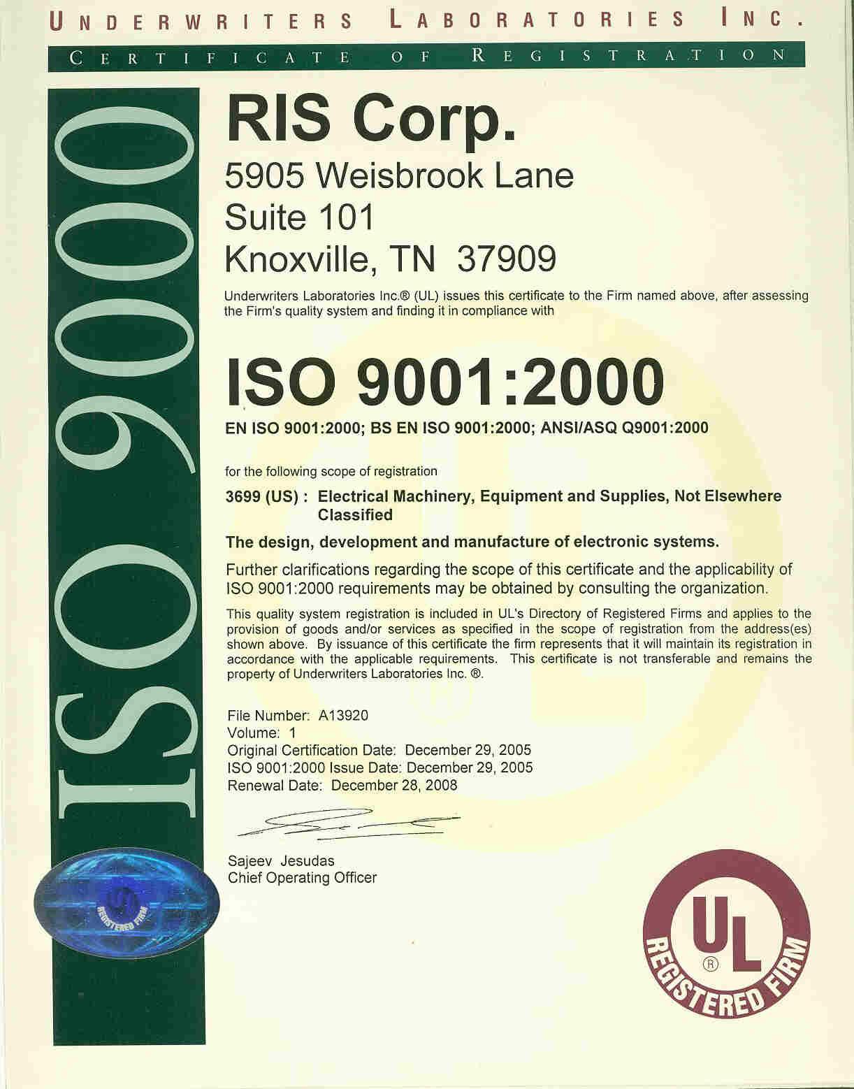 RIS > ISO 9001:2000
