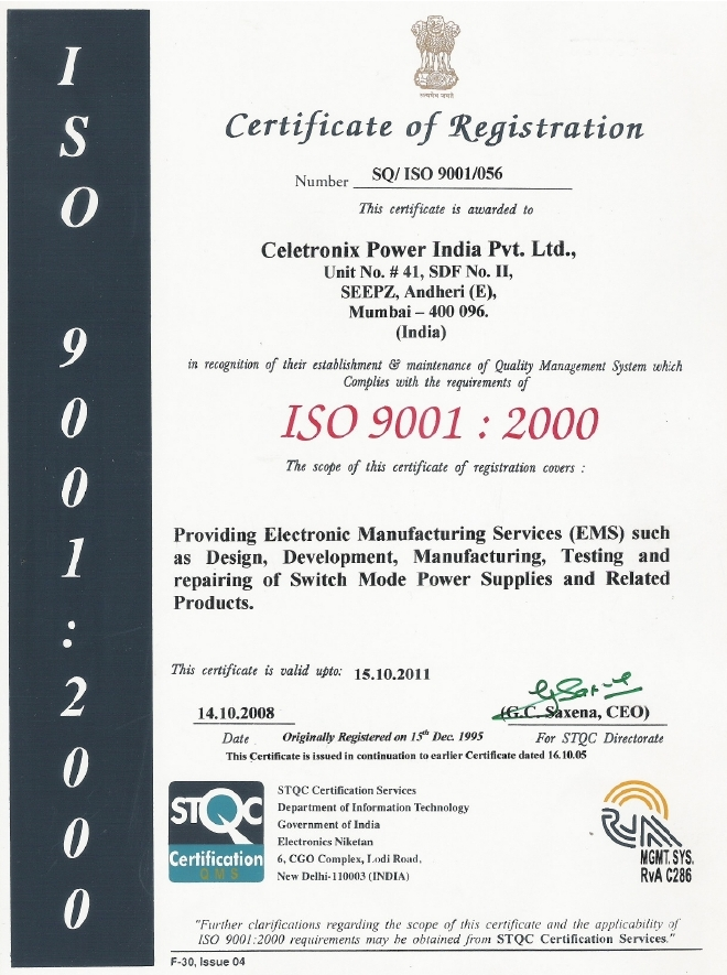 ISO 9001 sample certificate DIOcert GmbH :: QM Certifications