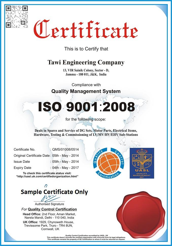 ISO 9001, QSCert